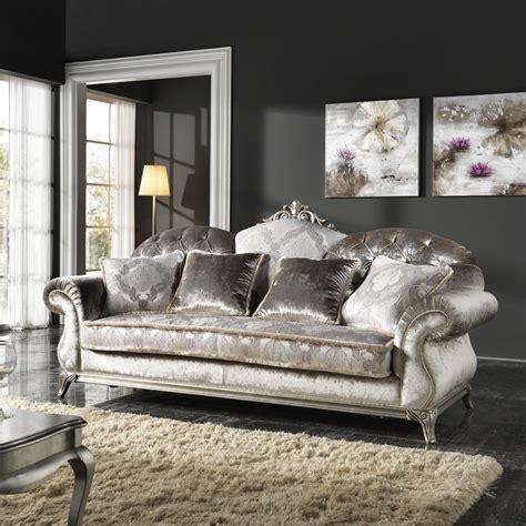 divani di lusso divano classico di lusso a 3 posti rivestito in tessuto