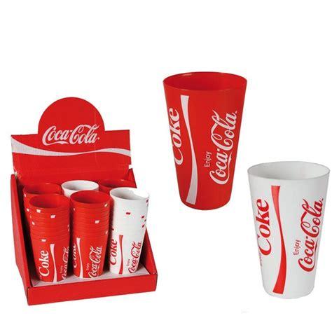 bicchieri da bianco e rosso bicchiere in plastica coca cola 2 colori assortiti rosso e
