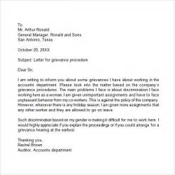 Employment Grievance Letter Grievance Letter 11 Documents In Pdf Word