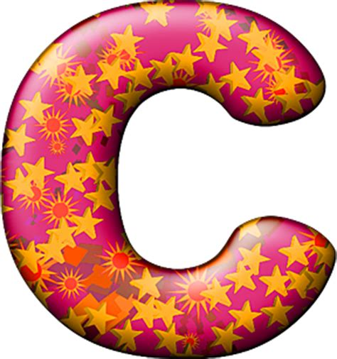 Themed Party Letter C | presentation alphabets party balloon warm letter c