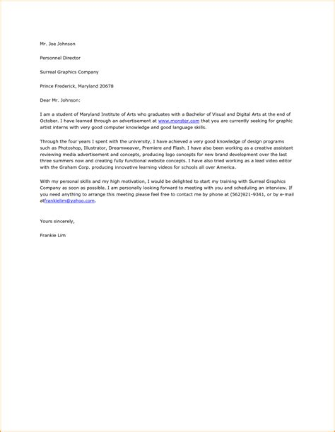 cover letter sample college student 100 images sample cover