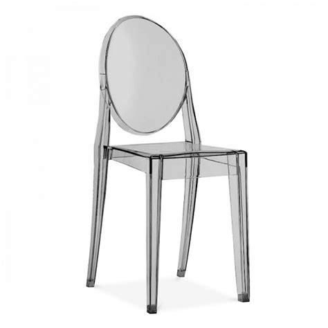 ghost style black transparent dining chair