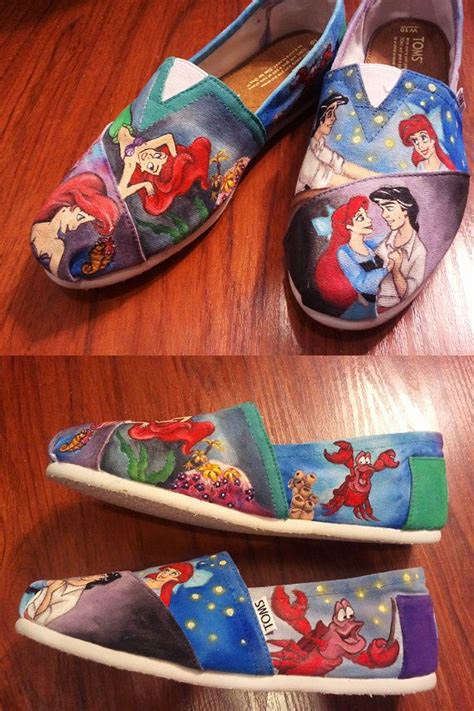mermaid slippers for adults custom disney animation inspired shoes with your
