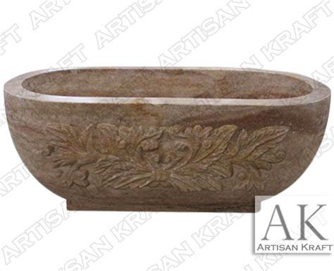 beige bathtub travertine beige free standing bath tub artisan kraft