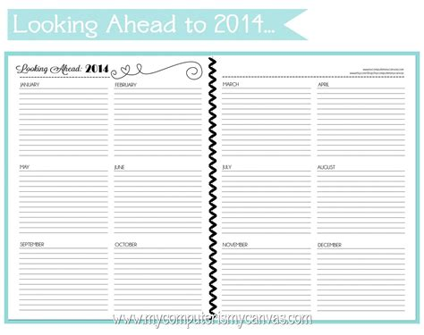 personal calendar template my computer is my canvas new printable personal planner