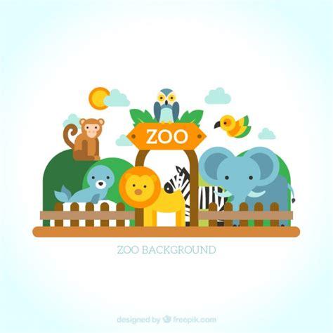 design zoo graphics set of wild animals in the zoo vector premium download