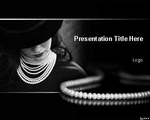 free pearl necklace powerpoint template