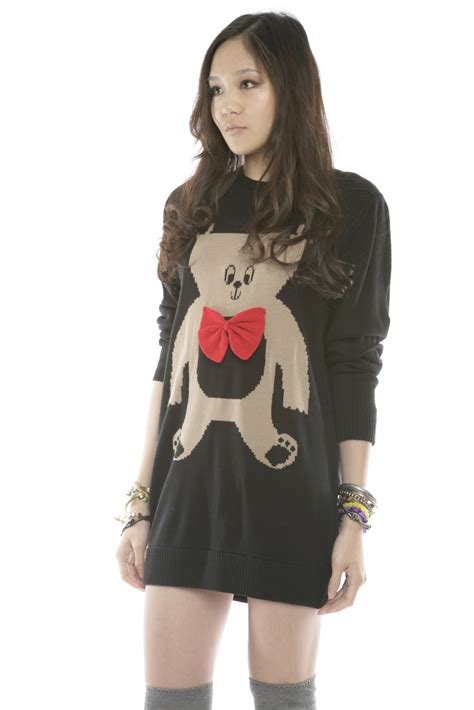 Dress Teddy House lazy oaf teddy sweater dress from franklin by house
