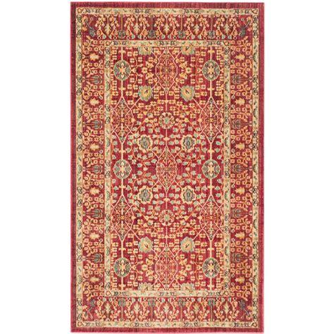 safavieh valencia 3 ft x 5 ft area rug val120r 3