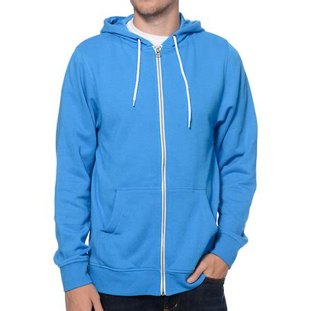 blue h2o light light blue zip up hoodie trendy clothes