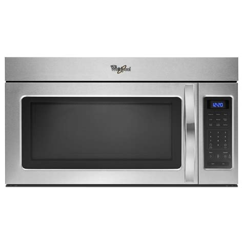 shop whirlpool 1 7 cu ft the range microwave