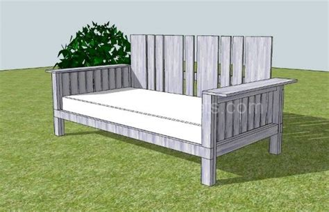 Outdoor Daybed Made From Pallets Reclaimed Wood Wooden Outdoor Daybed Furniture