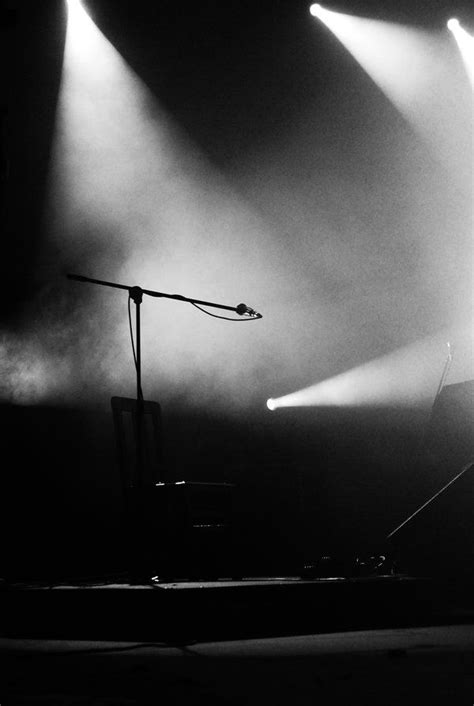 """black and white photography light ray on empty stage """"Void"""