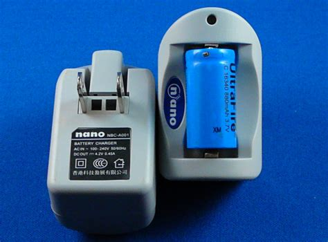 cr123 charger cr123 nano charger for single 3 6v battery odicforce