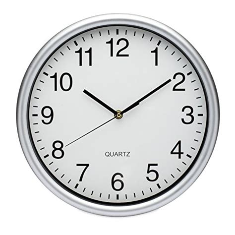 best office wall clock from usa elvoki best wall clock 12 5 inch quartz with arabic numerals office classroom