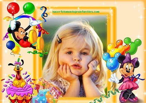 decorar fotos de bebes gratis decorar fotos para cumplea 241 os con minnie y mickey