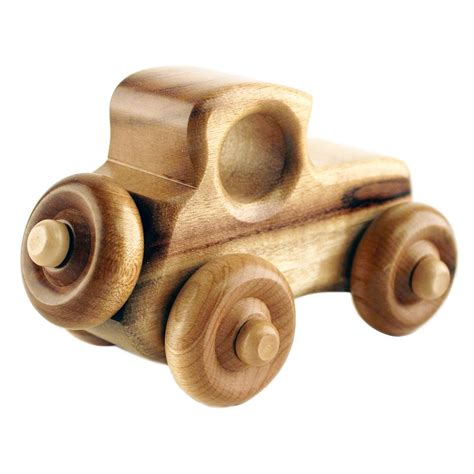 Wooden Handmade Toys - wood car humbert myrtlewood handmade toys made in