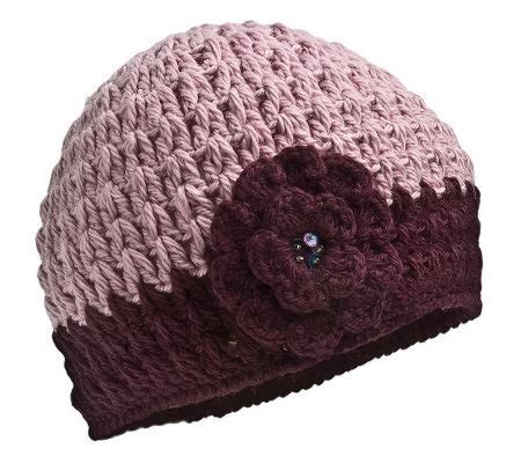flower design hats nirvanna designs women s crochet flower hat qvc com