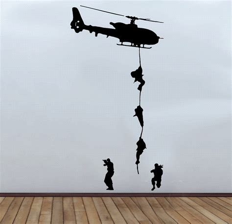soldier wall stickers large army troop helicopter wall decal sticker