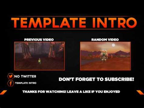 Outro For Template Intro Photoshop Svp Youtube Intro Outro Templates