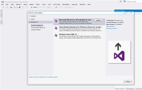 business intelligence templates for visual studio 2005 business intelligence ssdt for visual studio 2013