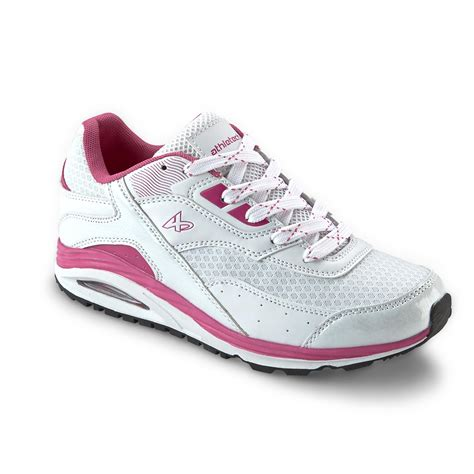 sears womens athletic shoes athletech s bobby white pink athletic shoe shoes