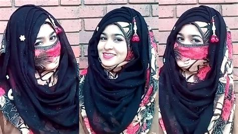 niqab tutorial step by step dailymotion eid special party hijab style with niqab without niqab