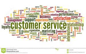customer service concept in word cloud royalty free stock