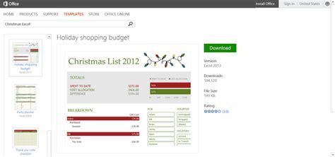 Microsoft S Best Free Diy Christmas Templates Microsoft Budget Template