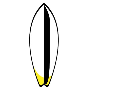 surfboard templates surf board template black and white clipart best