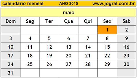 Calendario Maio 2015 Calend 225 Mensal Maio De 2015 Imprimir M 234 S De Maio 2015