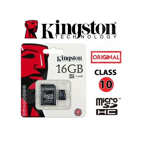 Micro Sd Kingston 16gb Class 10 kingston micro sd 16gb class 10 2 ขายกล อง xiaomi yi