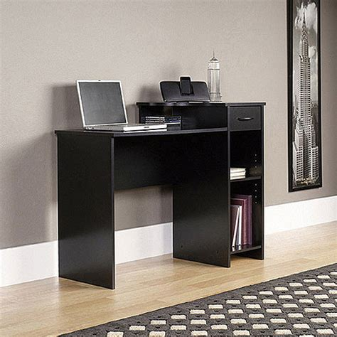 Walmart Office Desk Mainstays Black Student Desk With Optional Office Chair Walmart