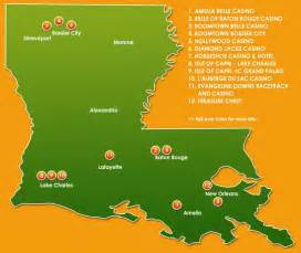 Louisiana Casinos Map by Louisiana Casino Member Map La Casino Association