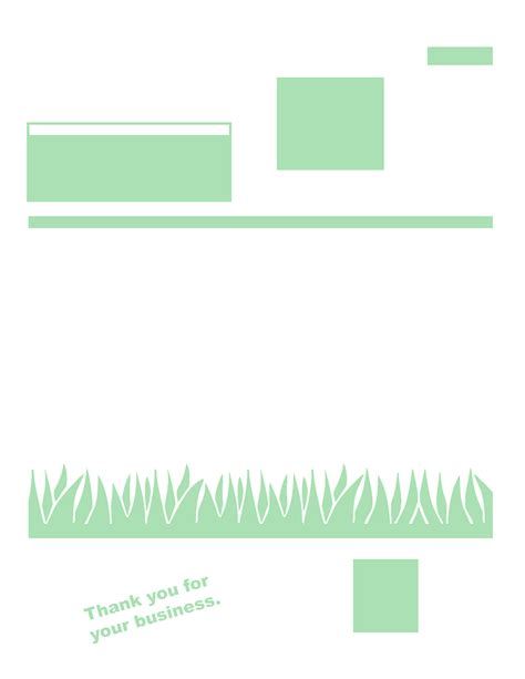 Free Lawn Care Invoice Template Free Business Template Landscaping Business Template