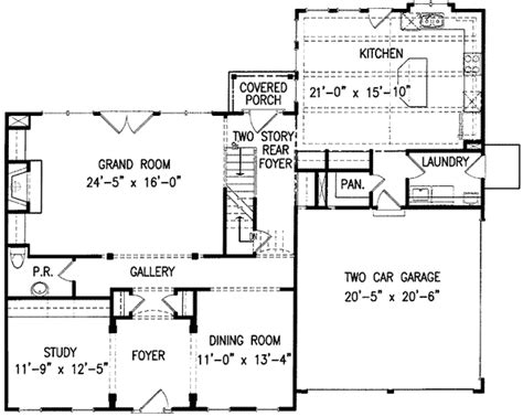 classic center home plan 15718ge architectural