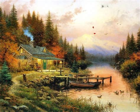 home living cottages of a tribute to kinkade