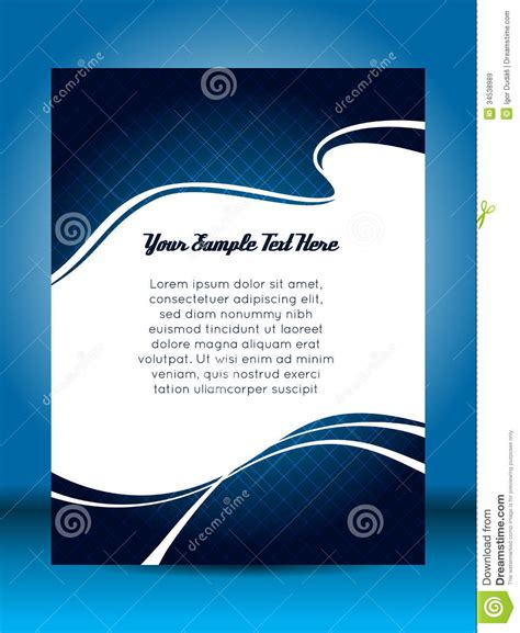 flyer design stock vector image of illustration cover
