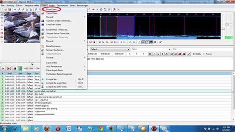 cara membuat video tutorial dengan suara cara membuat subtitle dengan menggunakan software aegisub