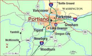 map of portland oregon
