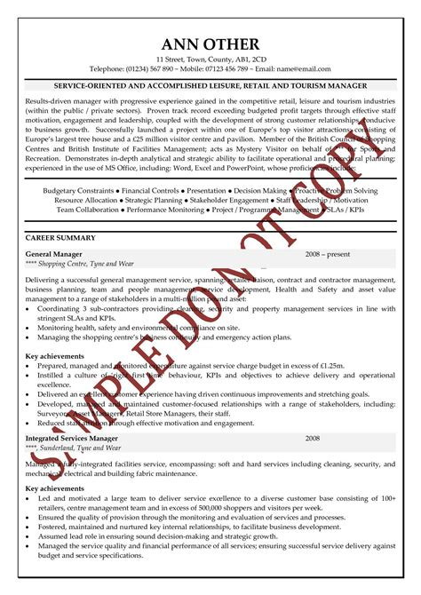How To Write A Basic Resume For A Job by Executive Cv Examples The Cv Store