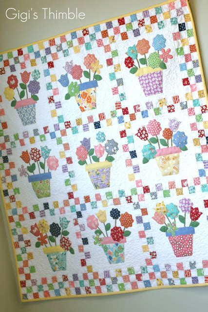 pattern making vcc gigi s thimble pot o flowers finished