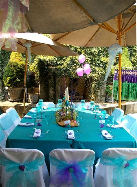 mermaid party bows and centerpieces   Little mermaid