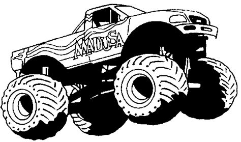 14 coloring pictures monster truck   Print Color Craft