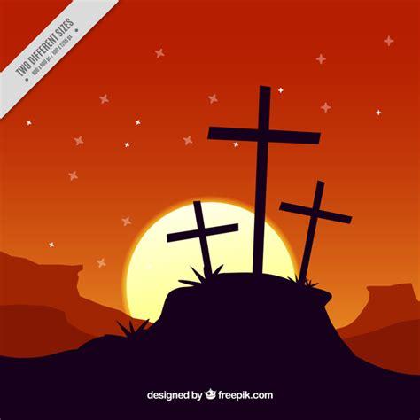 imagenes vectores viernes santo fondo de viernes santo de paisaje al atardecer descargar