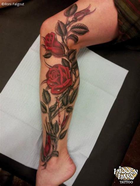 leg rose vine tattoos collection of 25 tinkerbell on vine for leg