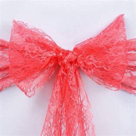 Lace Chair Sashes by 5pc X Jolly Lace Chair Sashes Coral Efavormart