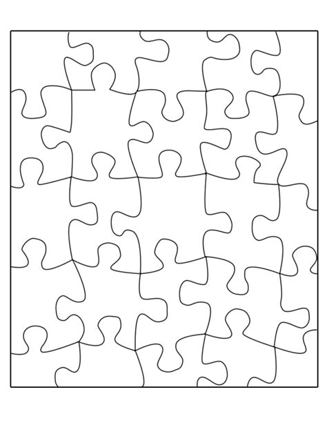 printable blank jigsaw puzzles best photos of jigsaw puzzle template 8 5x11 10 piece