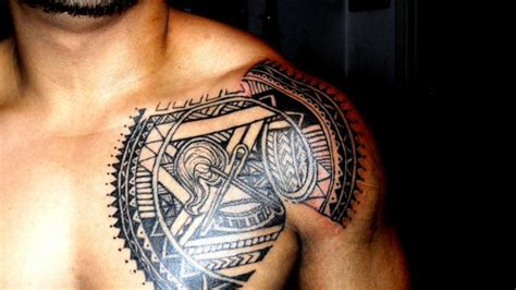 somoan tribal tattoo drew tribal chest plate by skufius on deviantart