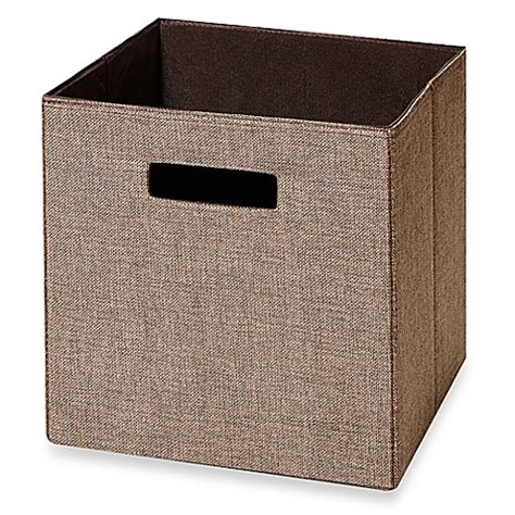 Fabric Drawers by Real Simple 174 Fabric Drawer In Chocolate Bed Bath Beyond
